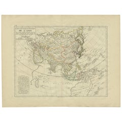 Antique Map of Asia by Mentelle '1819'