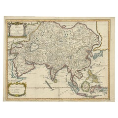 Antique Map of Asia by Pierre du Val, '1663'