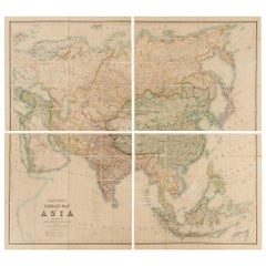 Antique Map of Asia by Stanford, 1862