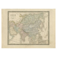 Antique Map of Asia by Wyld '1845'