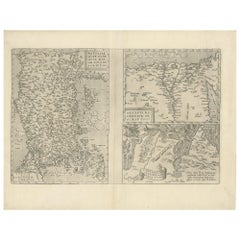 Antique Map of Asia Minor, Region of the Nile and Region of the City of Carthage
