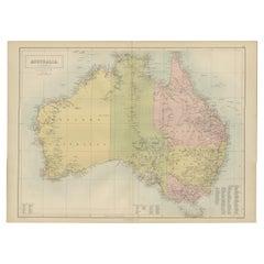 Antique Map of  Australia by A & C. Black, 1870