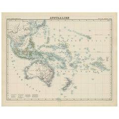 Antique Map of Australia by H. Kiepert, 1875