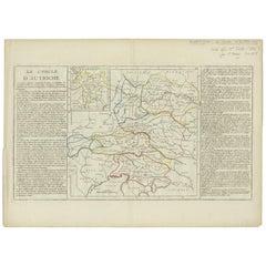 Antique Map of Austria by Clouet '1787'
