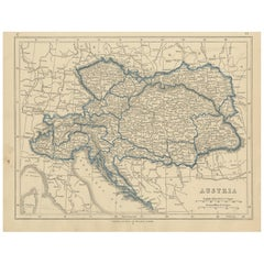 Antique Map of Austria by Lowry, 1852