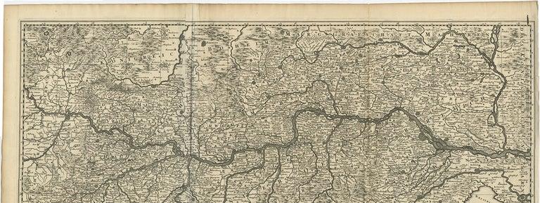 Paper Antique Map of Austria by N. Visscher, circa 1690 For Sale