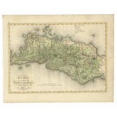 Antique Map of Bantam, Jakarta and Cirebon by Van den Bosch '1818'