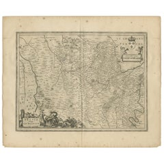 Antique Map of Beauce by Janssonius, 1657