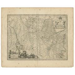 Antique Map of Beauce by Janssonius, 1657