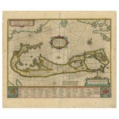 Antique Map of Bermuda by Hondius, 'circa 1630'