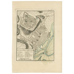 Antique Map of Boulogne-sur-Mer by Bellin '1764'
