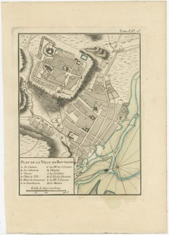 Antique Map of Boulogne-sur-Mer by Bellin (1764)
