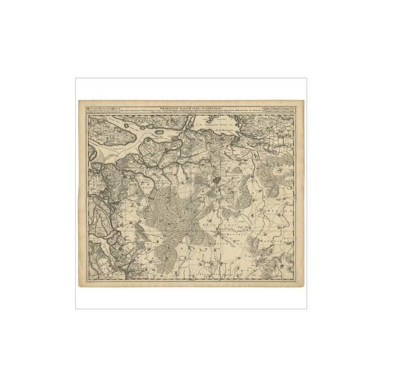Antique map titled 'Brabantiae Batavae Pars Occidentalis (..)'. Highly detailed map of the region between Bergen Op Zoom, Breda, Hoogstraten and Sandvliet, The Netherlands. Published by N. Visscher.
