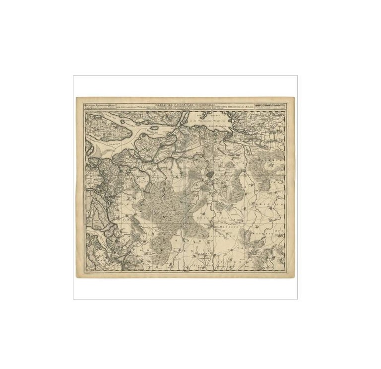 Antique Map of Brabant 'The Netherlands' by N. Visscher, circa 1690 In Good Condition For Sale In Langweer, NL