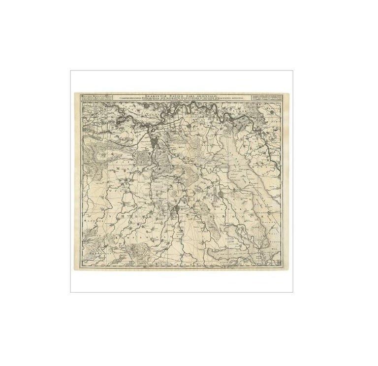 18th Century Antique Map of Brabant 'The Netherlands' by N. Visscher, circa 1690 For Sale