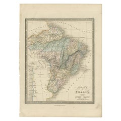 Antique Map of Brazil by Wyld, '1845'