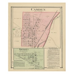 Antique Map of Camden and Sonora, 1871