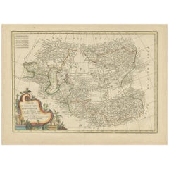Antique Map of Central Asia by Bonne, 1778