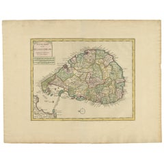 Antique Map of Ceylon by Tirion '1764'