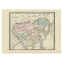 Antique Map of China and Japan by Wyld '1845'
