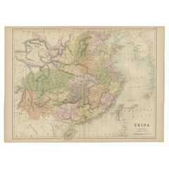 Antique Map of China by A & C, Black, 1870