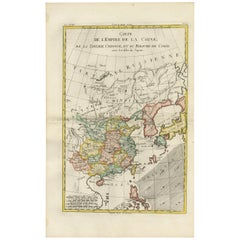 Antique Map of China, Korea, Japan and the Northern Philippines, circa 1780