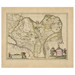 Antique Map of China, Tartary and Central Asia by Blaeu, circa 1645