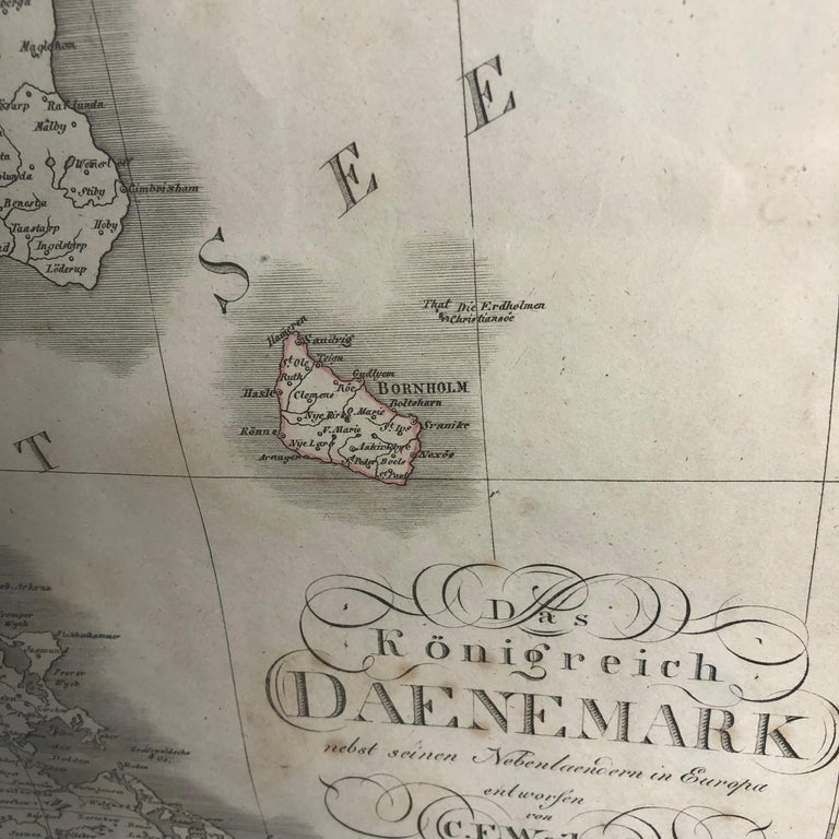 Antique Map of Denmark by C. F. Weiland, 1829 For Sale 9