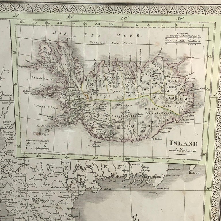 Antique Map of Denmark by C. F. Weiland, 1829 In Good Condition For Sale In Haddonfield, NJ