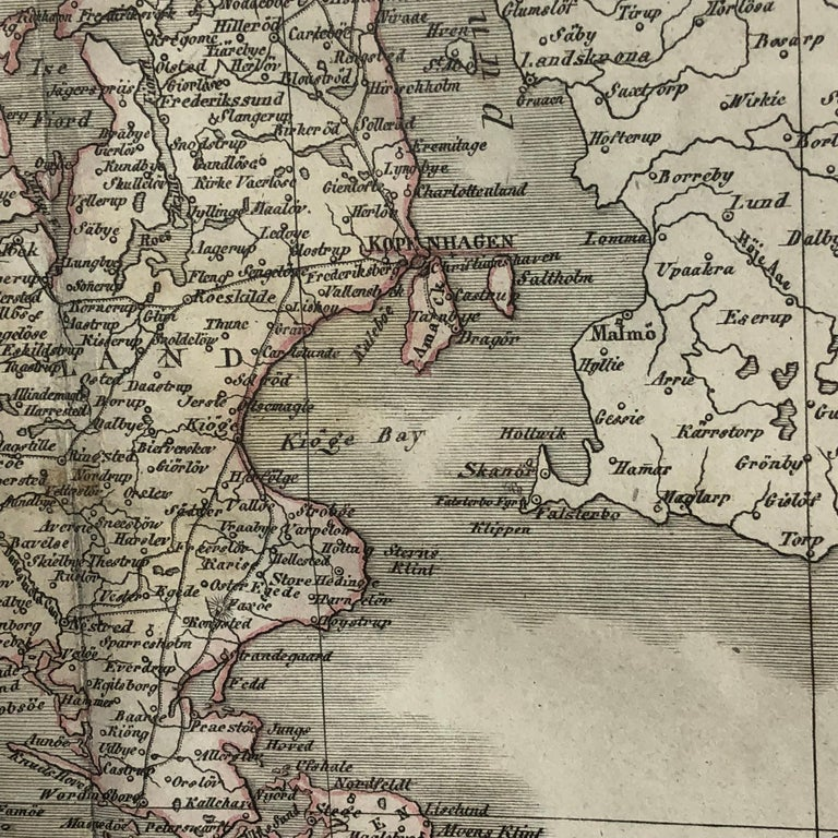 Antique Map of Denmark by C. F. Weiland, 1829 For Sale 1