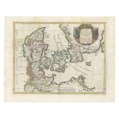 Antique Map of Denmark by De Rossi (1697)