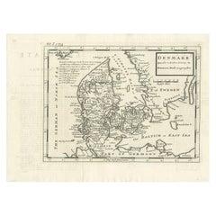 Antique Map of Denmark by Moll 'circa 1730'