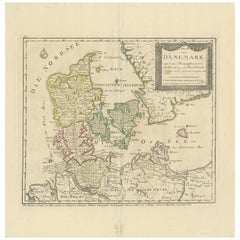 Antique Map of Denmark, circa 1800