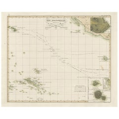 Antique Map of Eastern Polynesia by H. Berghaus, 1849