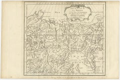 Antique Map of Eastern Siberia by Bellin (1768)