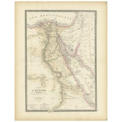 Antique Map of Egypt by Levasseur, '1875'