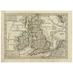 Antique Map of England, Scotland and Ireland by Keizer & de Lat, 1788