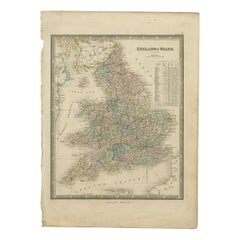 Antique Map of England & Wales by Wyld '1845'