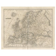 Antique Map of Europe by Balbi '1847'
