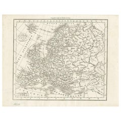 Antique Map of Europe by Dufour, 'circa 1834'