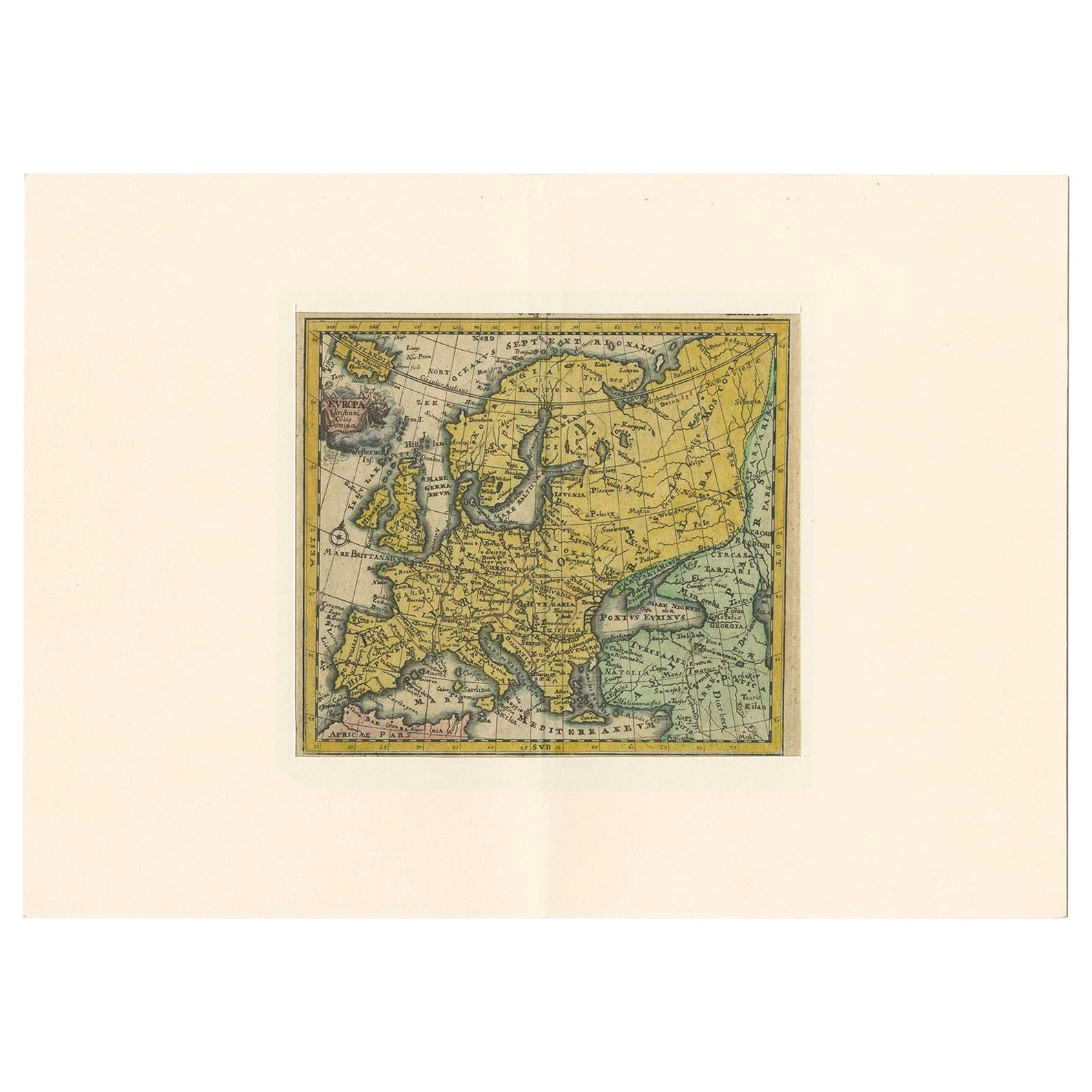 Antique Map of Europe by Hederichs, circa 1740