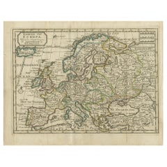 Antique Map of Europe by Keizer & de Lat, 1788