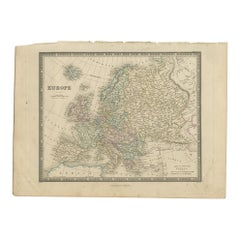 Antique Map of Europe by Wyld '1845'