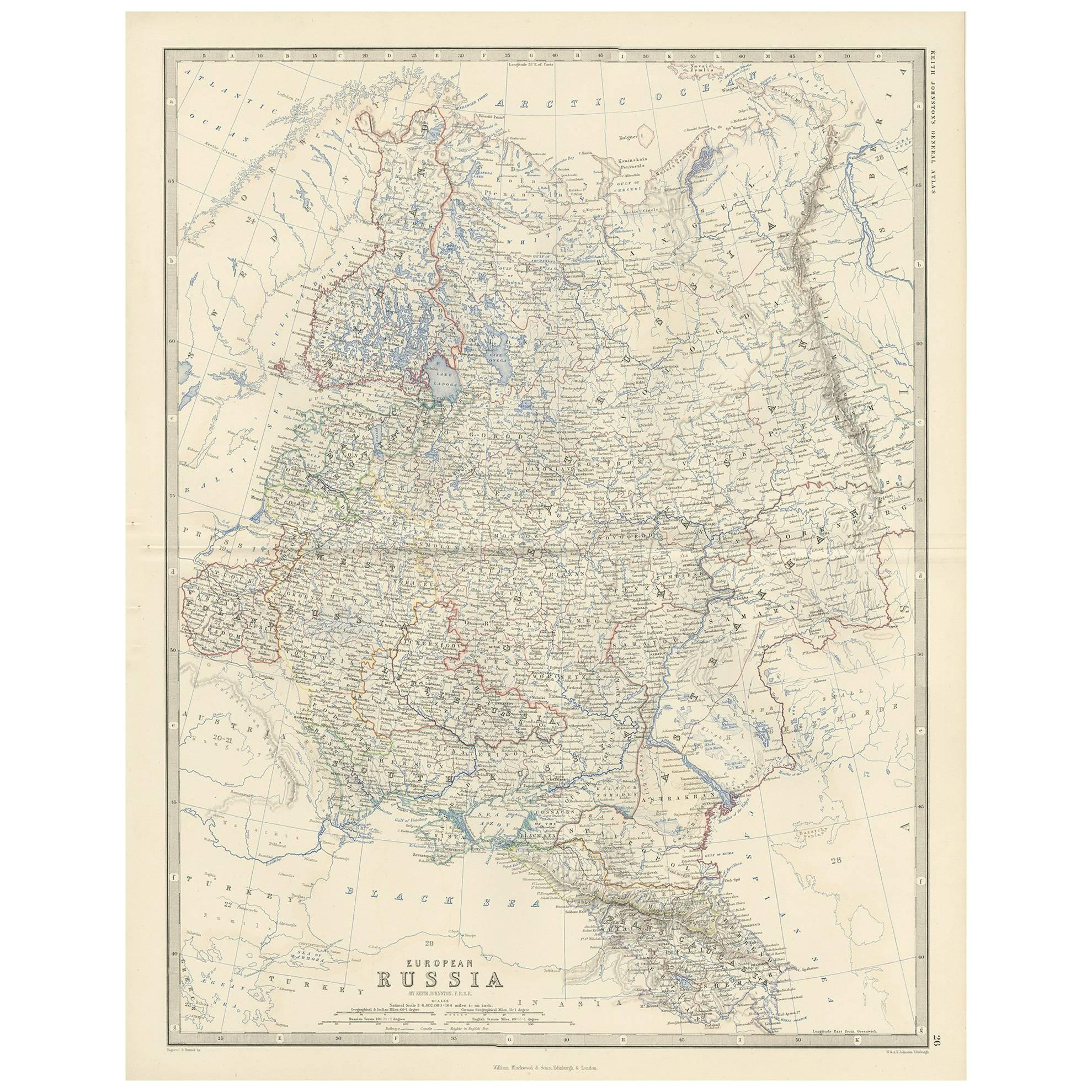 Turkey On Europe Map.Antique Map Of Turkey In Europe By A K Johnston For Sale At 1stdibs