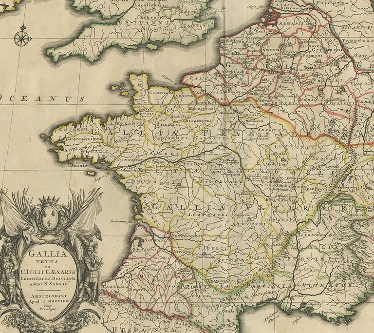 Antique Map of France by Mortier 'c.1710' In Good Condition For Sale In Langweer, NL
