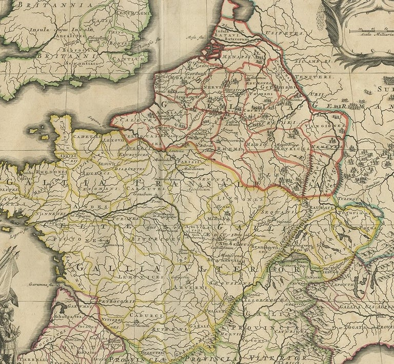 18th Century Antique Map of France by Mortier 'c.1710' For Sale