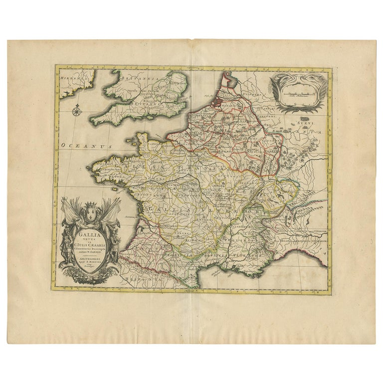 Antique Map of France by Mortier 'c.1710' For Sale