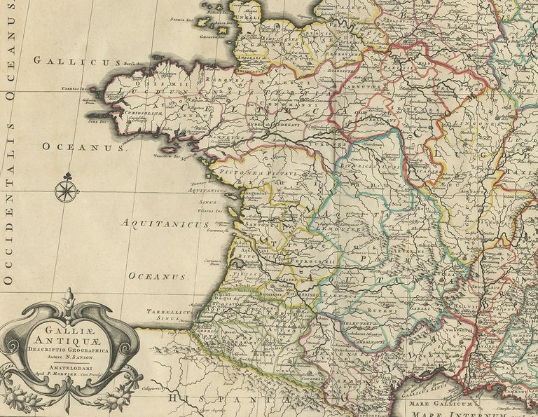 Antique Map of France by Mortier 'c.1730' In Good Condition For Sale In Langweer, NL