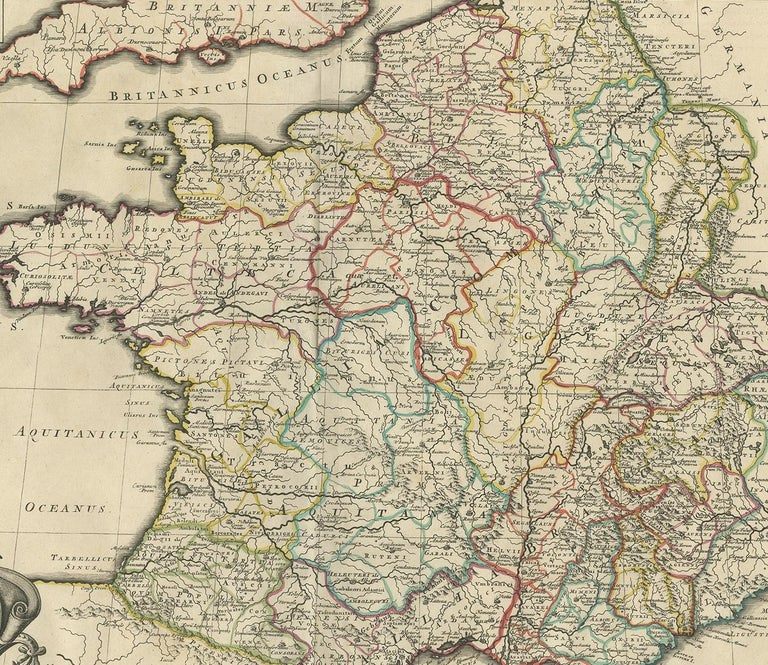 18th Century Antique Map of France by Mortier 'c.1730' For Sale