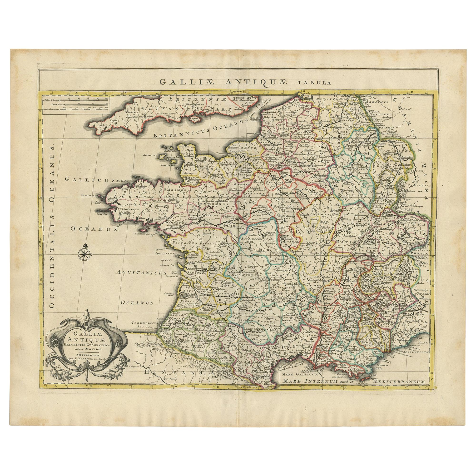 Antique Map of France by Mortier 'c.1730'